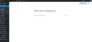 Die Oberfläche des Gutenberg Editors